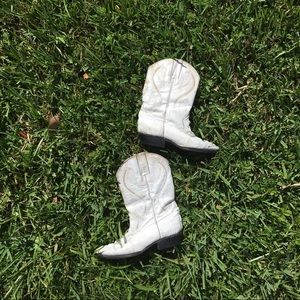 Shoes - Tierra Blanca Cowboy Western White Boots Size 8.5